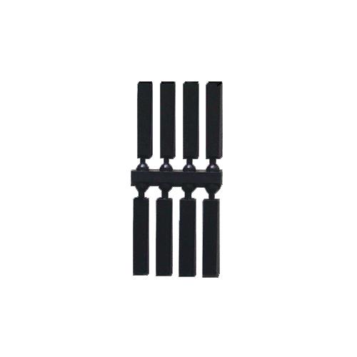Black Batons 11mm 16mm 19mm 25mm - QANB B + mm