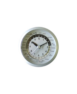 World Time 80mm Silver