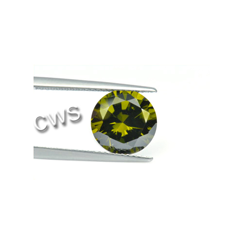 Round Brilliant - Olive Cz