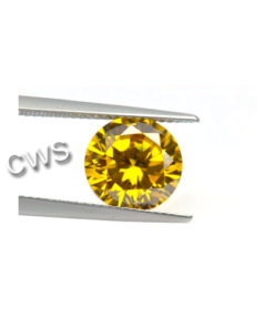 Round Brilliant - Yellow CZ