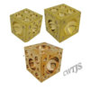 Cube Dapping Solid Brass - D0002 A B C