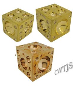 Cube Dapping Solid Brass