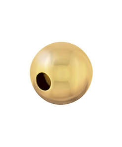 9 Carat Yellow Gold Plain Round Bead - Beads Round
