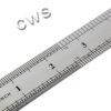 Rules Stainless Steel - Inches mm and cm - R0037