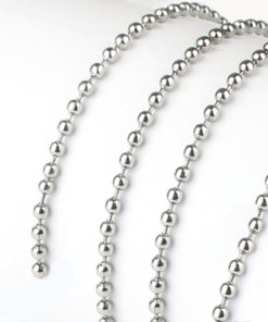 C0101 L M Sterling Ball Chain - C0101L C0101M