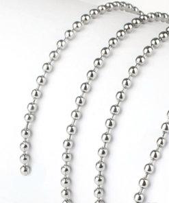C0101 L M Sterling Ball Chain - C0101L C0101M