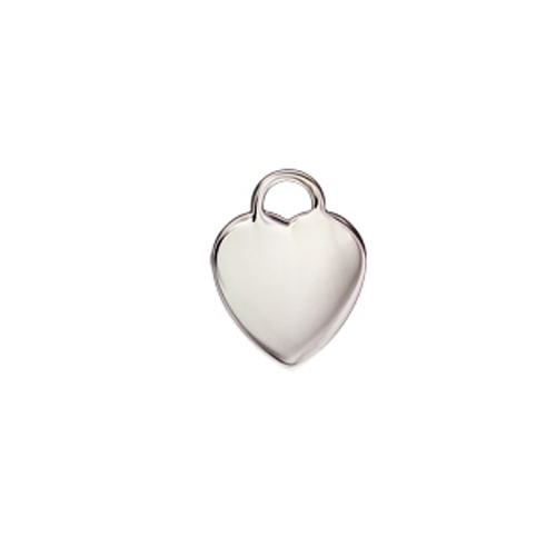 Tag Heart 17x19mm 1.20mm Thick - 11020STG, 11043STG