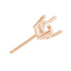18 Carat Yellow Gold - 4 & 6 Claw Wire Stud Pendant