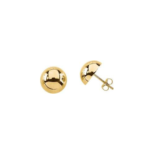 Half ball stud 9ct Yellow gold