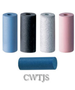 Abrasive silicone cylinder points