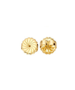 9 Carat Yellow Gold Rosette Wagonwheel Pushons
