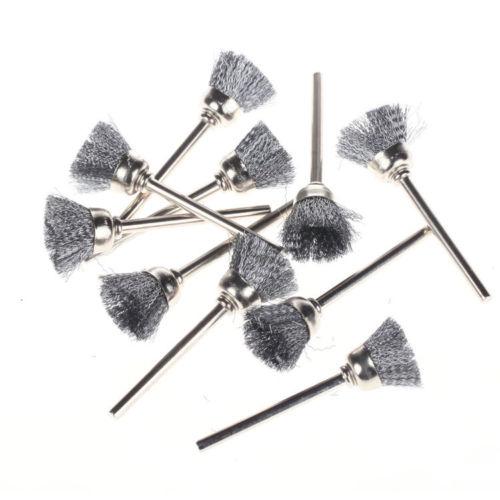 12mm Cup Brush White Black Steel Brass - B0094 B0082 B0095 B0096