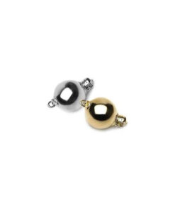 9 Carat Yellow Gold Flat Tongue Pearl Clasps