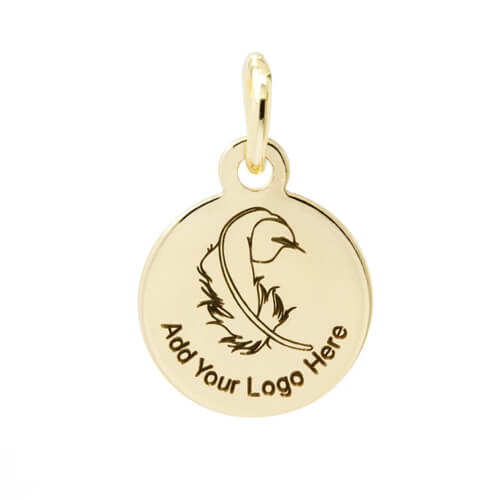 Engraved tags round