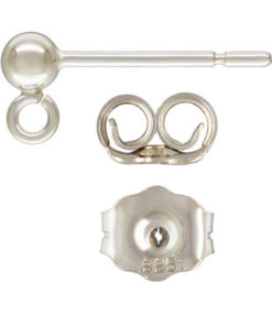 Ball Stud With Ring Sterling Silver - Ball Stud With Ring