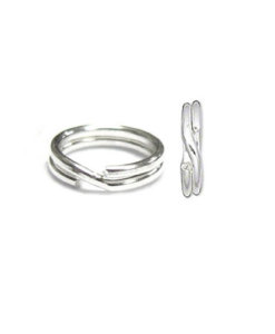 Jump Ring Round Split Sterling Silver
