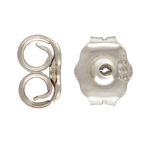 Sterling Silver Earring Backs - Medium Large Pushons 11002stg