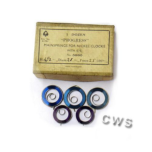 Blue Steel Mainspring per dozen - CLW072