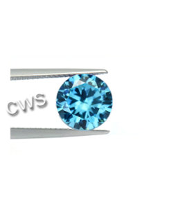 Round Brilliant - Aquamarine CZ