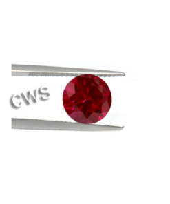 Round Brilliant - Ruby CZ
