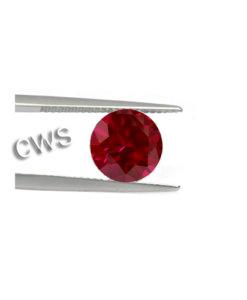 Round Brilliant - Ruby CZ