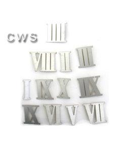 Roman Numerals Aluminium 35mm - CLW137