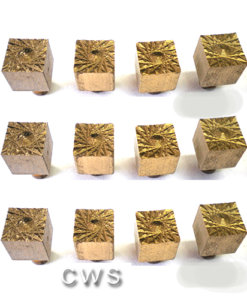 Solid Brass Hour Markers 10mm Square - CLW141