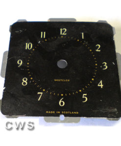 Wesclox Square Dials 88mm Black - CLW145