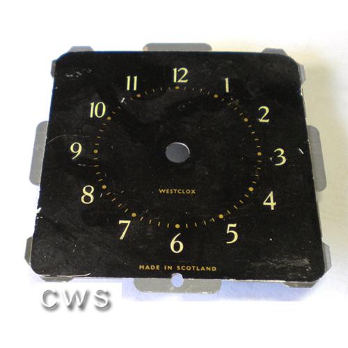 Wesclox Square Dials 88mm Black - CLW145