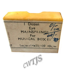 Musical Box Mainsprings 1 Dozen - CLW175
