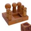 """Dapping Set 7 Punches 3"""" Cube Hardwood - D0223"""