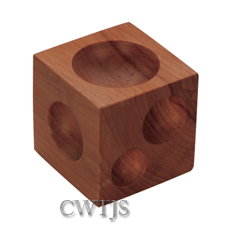 "Dapping Set 7 Punches 3"" Cube Hardwood - D0223"