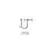 Ear Wire with Screw and Jump Ring Sterling Silver - UOSTGUF403