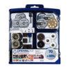 70 Piece Kit with Quality Dremel EZ SpeedClic - DRE-725