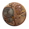 Steam Punk Rose Gold plated Pendant 30mm - CLW180