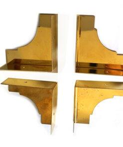 Brass Corners 35mm to finish wood