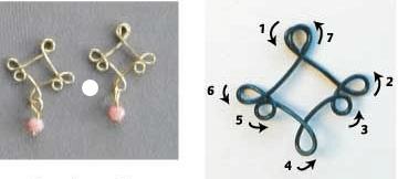 DIY drop earrings