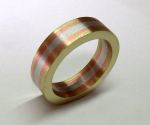 Three Tone Ring Joined With Rivets