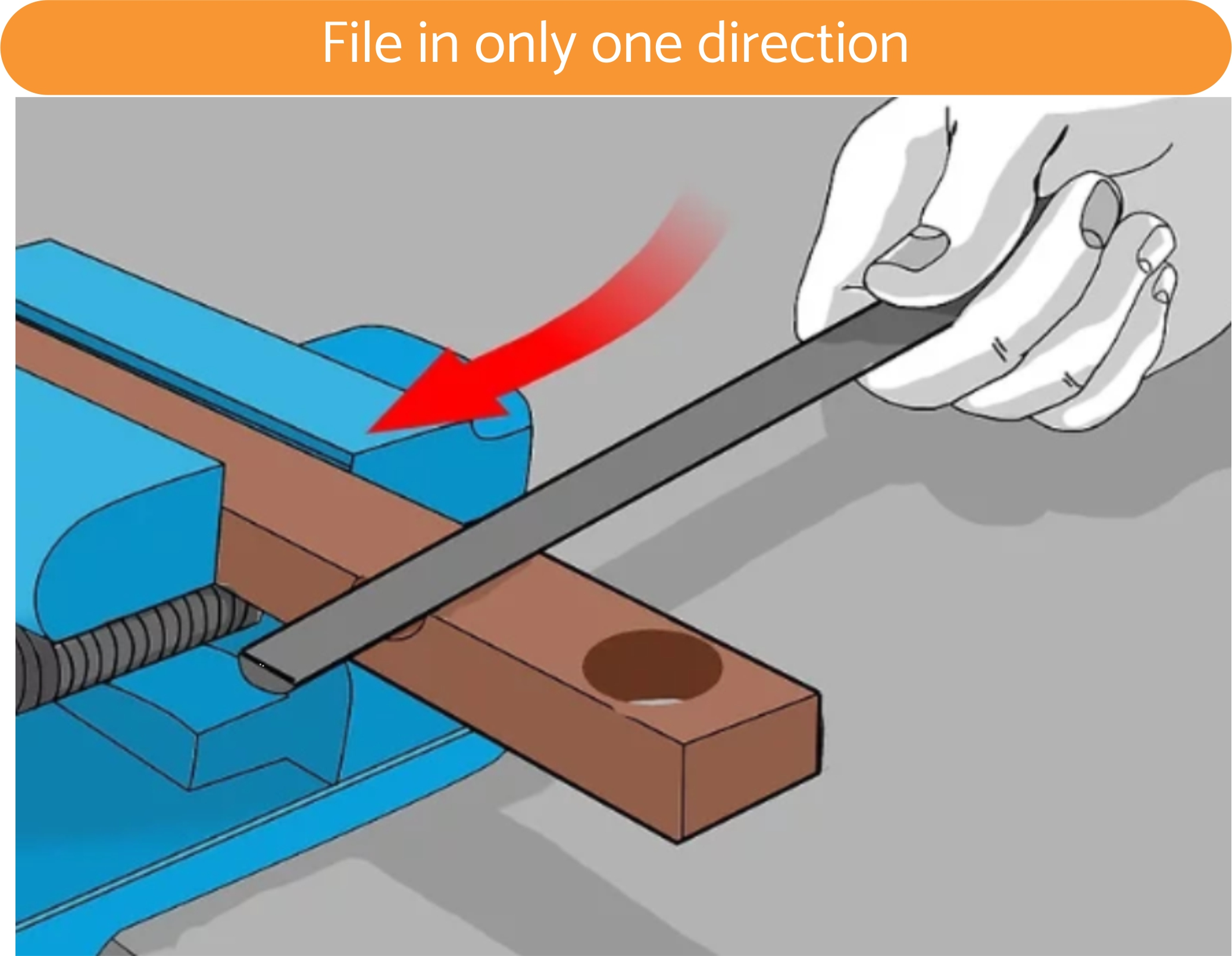 File in only one direction