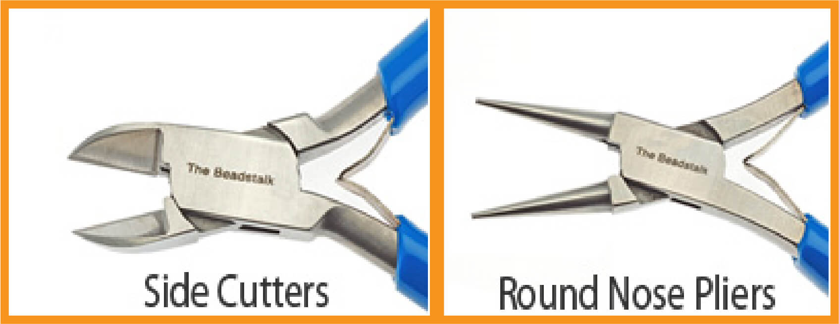 Side cutters and round nose pliers